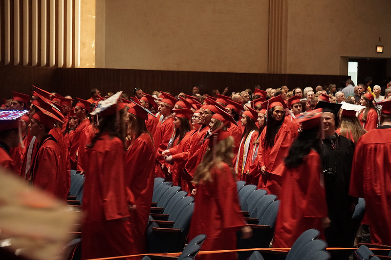 Pal-Mac's Class of 2019 being seated to begin the graduation ceremoney.