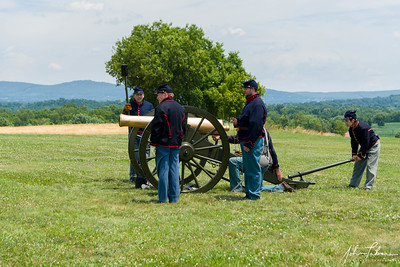 Company B artillery demonstration