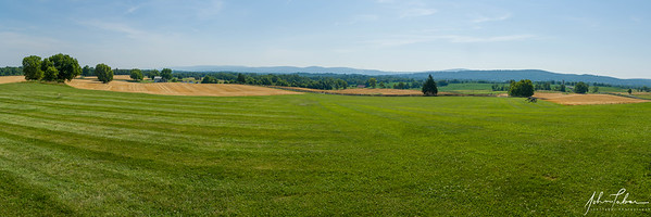 View to the west from the Antietam National Battlefied Visitor Center