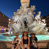 The kids in front of the Fontaine dei Fiumi in the Piazza Navona.