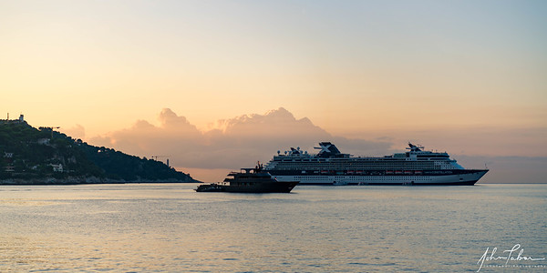 Celebrity Constellation at morning in Villefranche