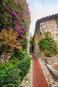 Colorful street in Eze