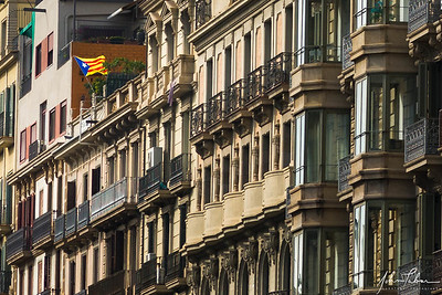 19th century balconies in Barcelona