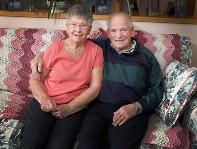 Mary and John Row in there Prince George home for Senior Scene column. Citizen photo by Brent Braaten