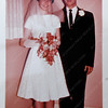 John and Wilma Scott in their wedding photo from February 1963.