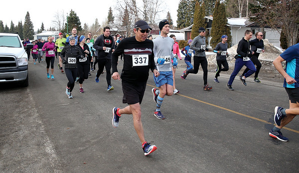 It was a mass start for the 115 runners who took part in the Heights 5'er on Sunday morning. The annual race is hosted by the Prince George Road Runners with 66 runners tackling the 5km distance, and 49 runners taking on the 5 mile distance. Citizen Photo by James Doyle       March 24, 2019