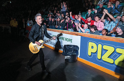 Colin James makes his way through the crowd to the stage on Saturday night at CN Centre as the Canadian blues rocker brought his Miles To Go tour to Prince George with opening act Marty O'Reilly and the Old Soul Orchestra, and special guest, Barney Bentall & Band. Citizen Photo by James Doyle      March 23, 2019