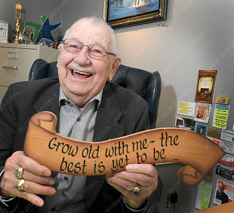 Harry Backlin turns 90 on Friday March 29. He was also born on a Friday. Citizen photo by Brent Braaten