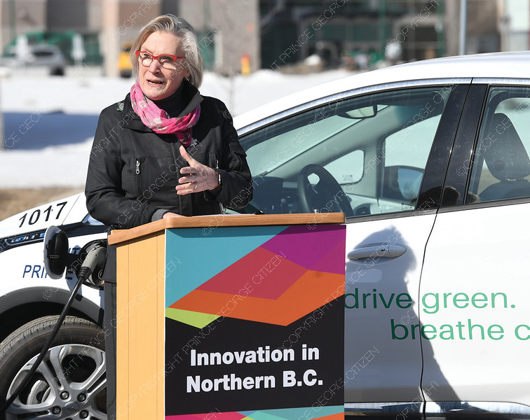 Carolyn Bennett, Minister of Crown-Indigenous Relations spoke at UNBC Friday morning about the fedral governments budget with regards to clean energy.