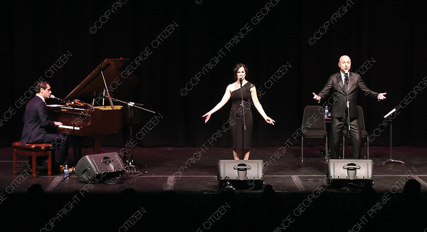 O Sole Trio presented their Bravissimo Broadway performance on Sunday night at Prince George Playhouse. The trio performed a number of classic Broadway hits from such musicals as Cats, and Phantom of the Opera. Citizen Photo by James Doyle       May 26, 2019