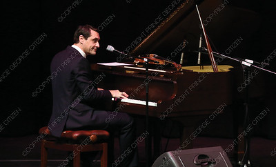 David Shenton plays piano on Sunday night at Prince George Playhouse during O Sole Trio's Bravissimo Broadway performance. The trio performed a number of classic Broadway hits from such musicals as Cats, and Phantom of the Opera. Citizen Photo by James Doyle       May 26, 2019