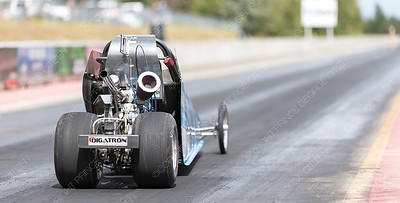 The junior drag racer of Preston Gessner takes off from the starting line of the Rolling MIx Concrete Raceway on Sunday afternoon at NITRO Motorsports Park during the Big Bux Shootout drag races. Citizen Photo by James Doyle        July 28, 2019
