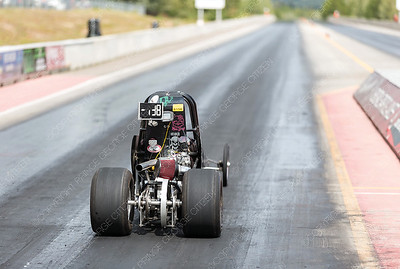 The junior drag racer of Tabitha Heiber takes off from the starting line of the Rolling MIx Concrete Raceway on Sunday afternoon at NITRO Motorsports Park during the Big Bux Shootout drag races. Citizen Photo by James Doyle        July 28, 2019
