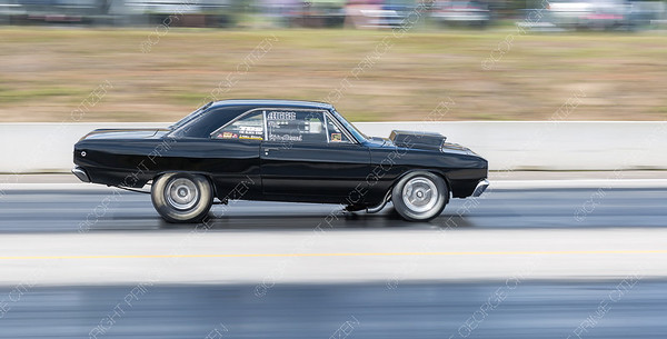 The no-box drag racer of Kale Menzel speeds down the Rolling MIx Concrete Raceway on Sunday afternoon at NITRO Motorsports Park during the Big Bux Shootout drag races. Citizen Photo by James Doyle        July 28, 2019