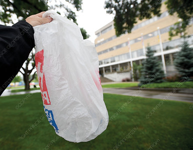 Councilor Mury Krause asked about banning the use of plastic bags in Prince George at a council meeting.