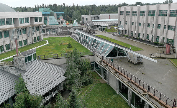 UNBC viewed from the teaching lab building.  July 2019
