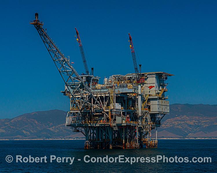A look at Platform Hondo with the Gaviota coast in back.