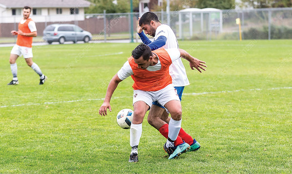 Subway (white) took on PG Dome in the Prince George Soccer Association's Division 1 men's final on Saturday afternoon at North Cariboo Field. Citizen Photo by James Doyle