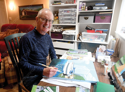 Rick Mentz started painting in his retirement years and decided to create a fundraising calender for BC Childrens Hospital Foundtion. The calenders are $20 each with all proceeds going to the foundation.