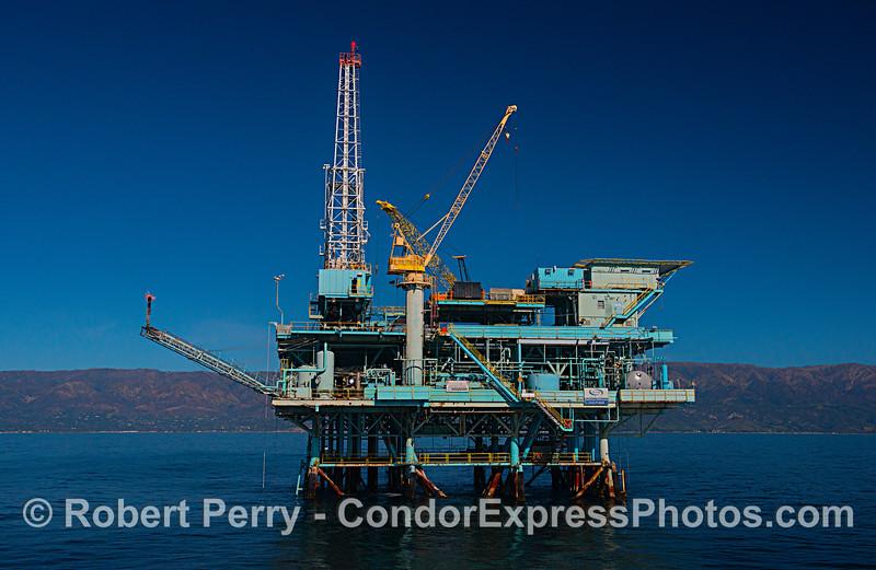 Offshore oil and gas platform Hillhouse, near Carpinteria, California.