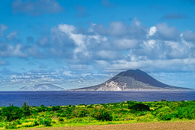 View of Nevis and Saba