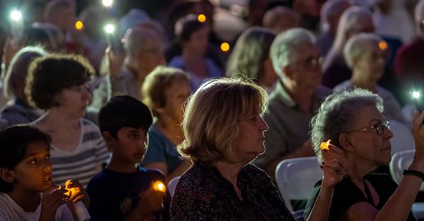 Vigil at  multifaith September 11 commemoration in Palo Alto