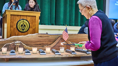 """Day of Remembrance, SJ Japantown -""""Relocation"""" Camp Internee Lights Candle in Observance"""