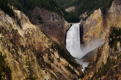 DA099,DT,Lower Falls, Yellowstone River, Wyoming