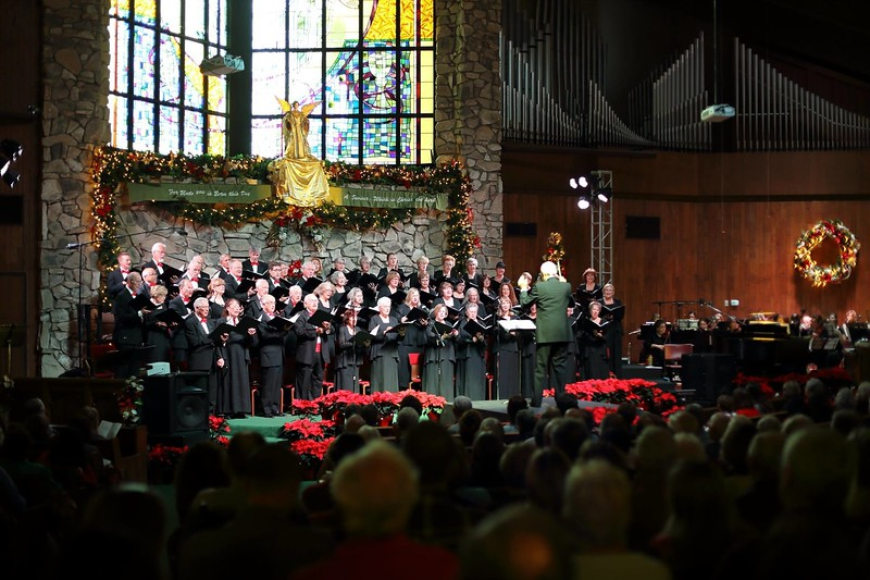 "More than 50 voices comprise the Fallbrook Chorale, which is directed by Denny Lang, at their ""Celebrate Christmas"" concert, Dec. 8."