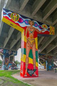 DA040,DT,Latino_Street_Art_Huelga_Under_Highway_Downtown_San_Diego
