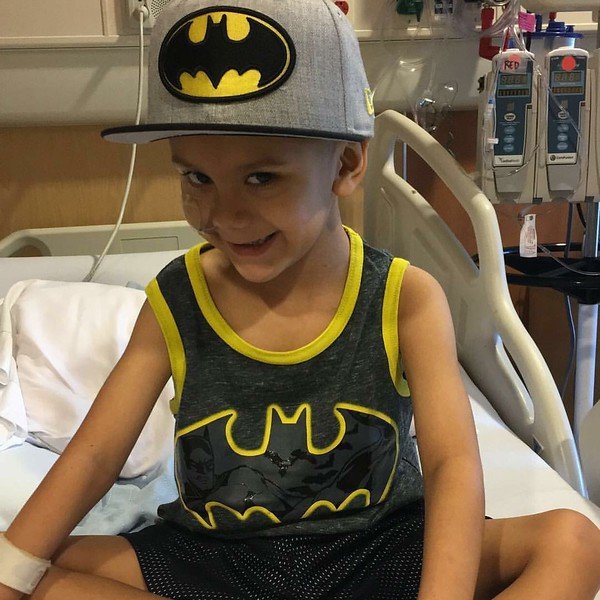 Six-year-old Jonathan Martinez stayed at the Children's Hospital of Orange County while he battled brain cancer. He is shown here sporting his favorite superhero attire, Batman.