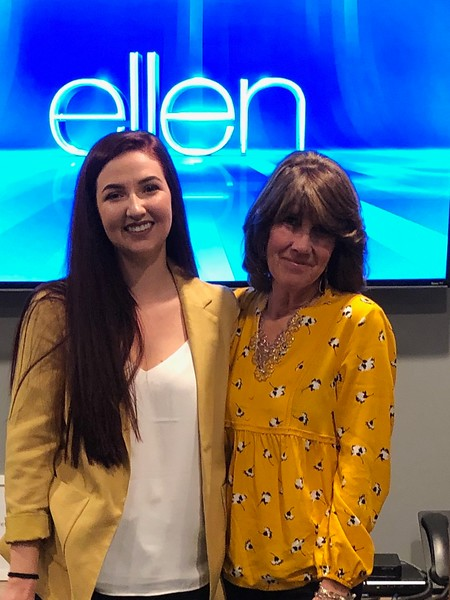 Addie Duffy and her mother Nancy Grenier were able to spend four days together in Fallbrook after the two appeared on the Ellen DeGeneres show. They are both huge Ellen fans.