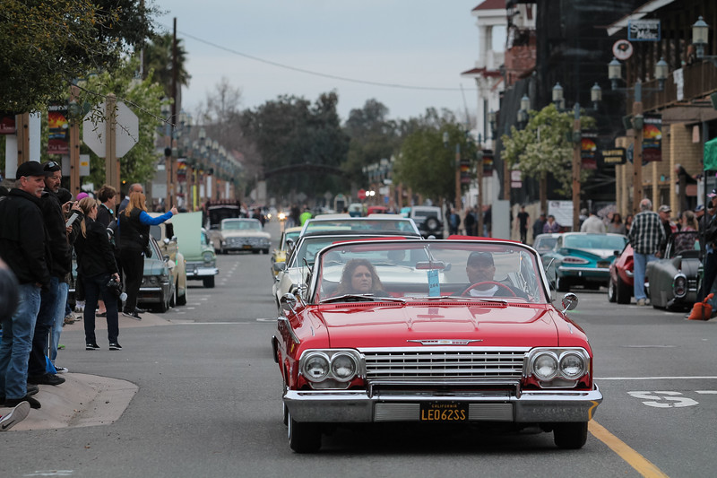 Vintage cars cruise down Old Town Front Street during the annual Temecula Rod Run, March 1. Shane Gibson photos