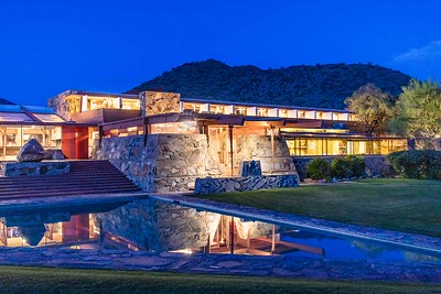 DA110, DT, Nightime Refelctions Taliesin West Scottsdale AZ