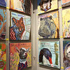 Paintings by artist Yvonne Gaudet entertain visitors to the Reflections of Nature art show at the Fallbrook Art Center.