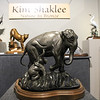 Wildlife bronze sculptures by artist Kim Shaklee sit on display during the Reflections of Nature art show at the Fallbrook Art Center.