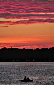 DA104,DT, Red Sky at Night, West McDonald Lake, Minnesota jpeg