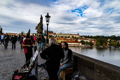 The Charles Bridge with Palace in View