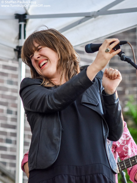 Serena Ryder joins Damhnait Doyle @ Roncy Rocks, Wright Ave. Stage, Toronto, ON, 8-June 2019