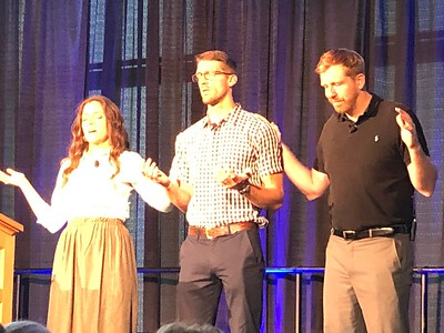 On Friday, Kendra and Mark prayed for Josh Dart as he spoke to us about being Perfect for God.