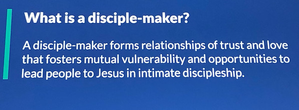 One of the themes was that we need to look at ourselves as SGLs, but also as Disciple-Makers. Can we ask the question - How can I bring you to Jesus?