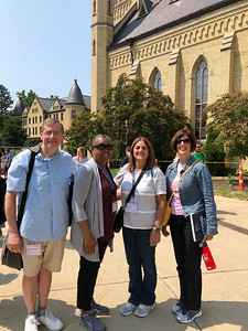 Deacon Phil, Deb, Cheryl and Dawn in front of the Basillica