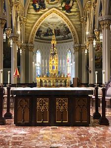 Main altar at the Basicala at Notre Dame