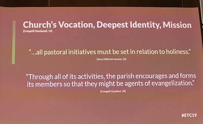 From Peter, a reminder that Evangelization must be at the center of our Vocation, and it is our deepest identity (this should sound familiar :))