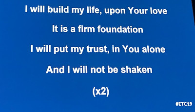 "The Worship Group sang ""Build my life."" You may be familiar with it."