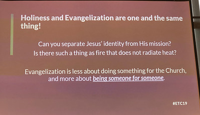 "This is pretty self-explanatory from Peter. What do you think about his statement ""Evangelization is less about doing something for the church and more about BEING SOMEONE FOR SOMEONE?"""