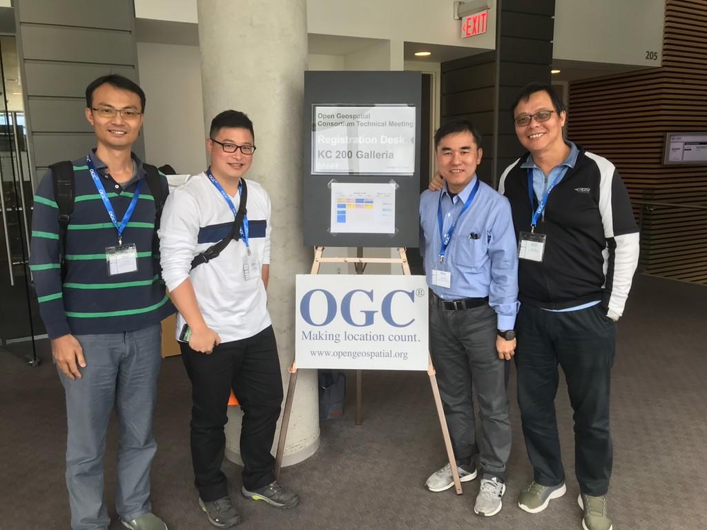 GIS.FCU赴加拿大參與第112屆OGC TC Meeting