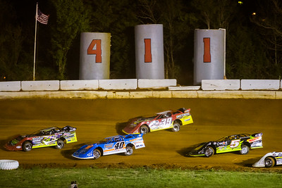 Billy Moyer, Jr. (21JR), Kyle Bronson (40B), Tim McCreadie (39) and Don O'Neal (5)
