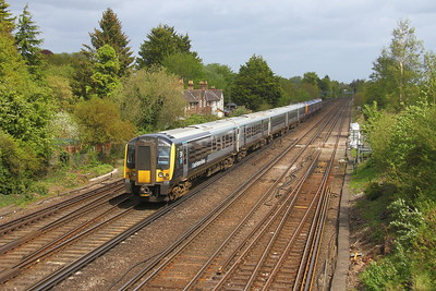 444040 Worting Junction 28/04/19 on the rear of 2B44 Eastleigh to Waterloo led by 450009