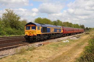 66755 Worting Junction 29/04/19 5Y68 Tonbridge to Eastleigh with LT 4TC unit 8028